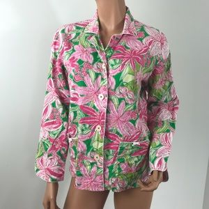 Lily Pulitzer PJ top Pick of the Bunch long sleeve